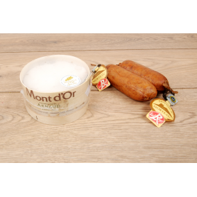 Ensemble Mont d'or et 2 saucisses Morteau - 4 p